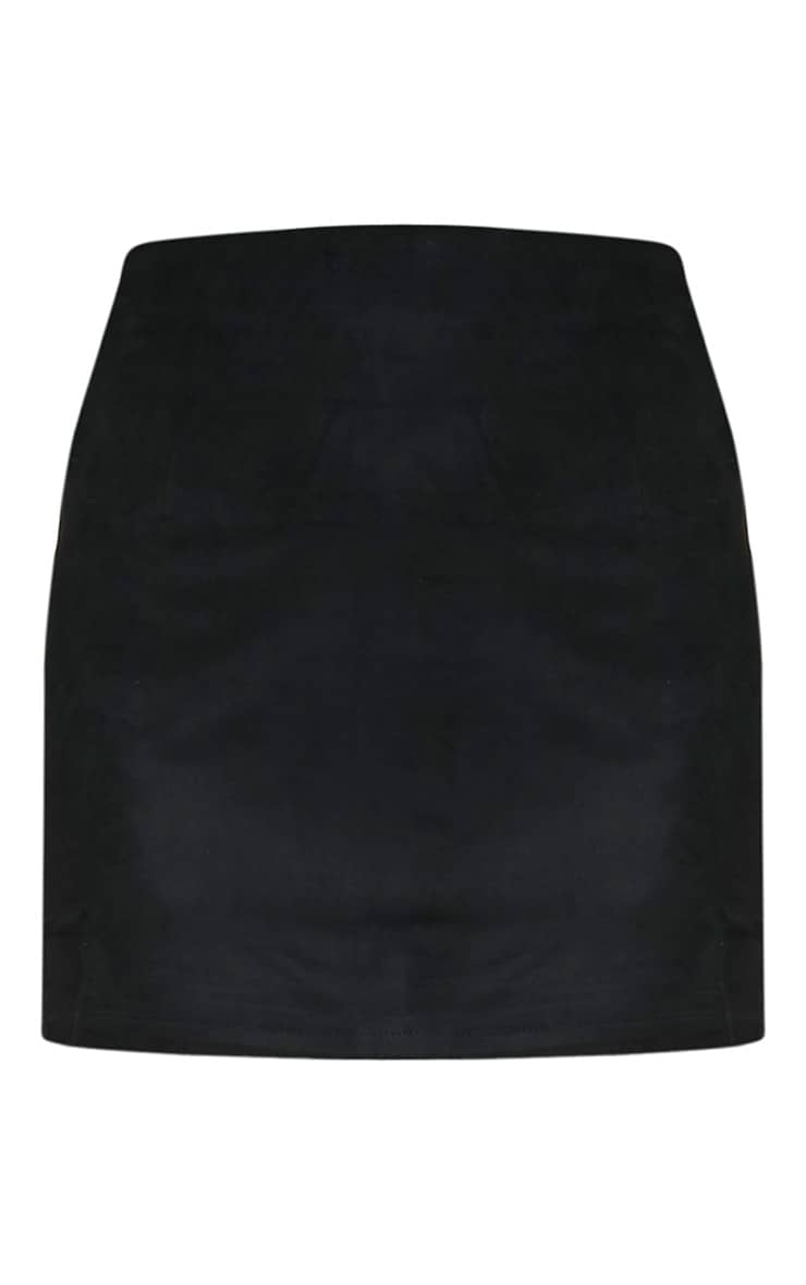 Lauree Black Faux Suede Mini Skirt 3