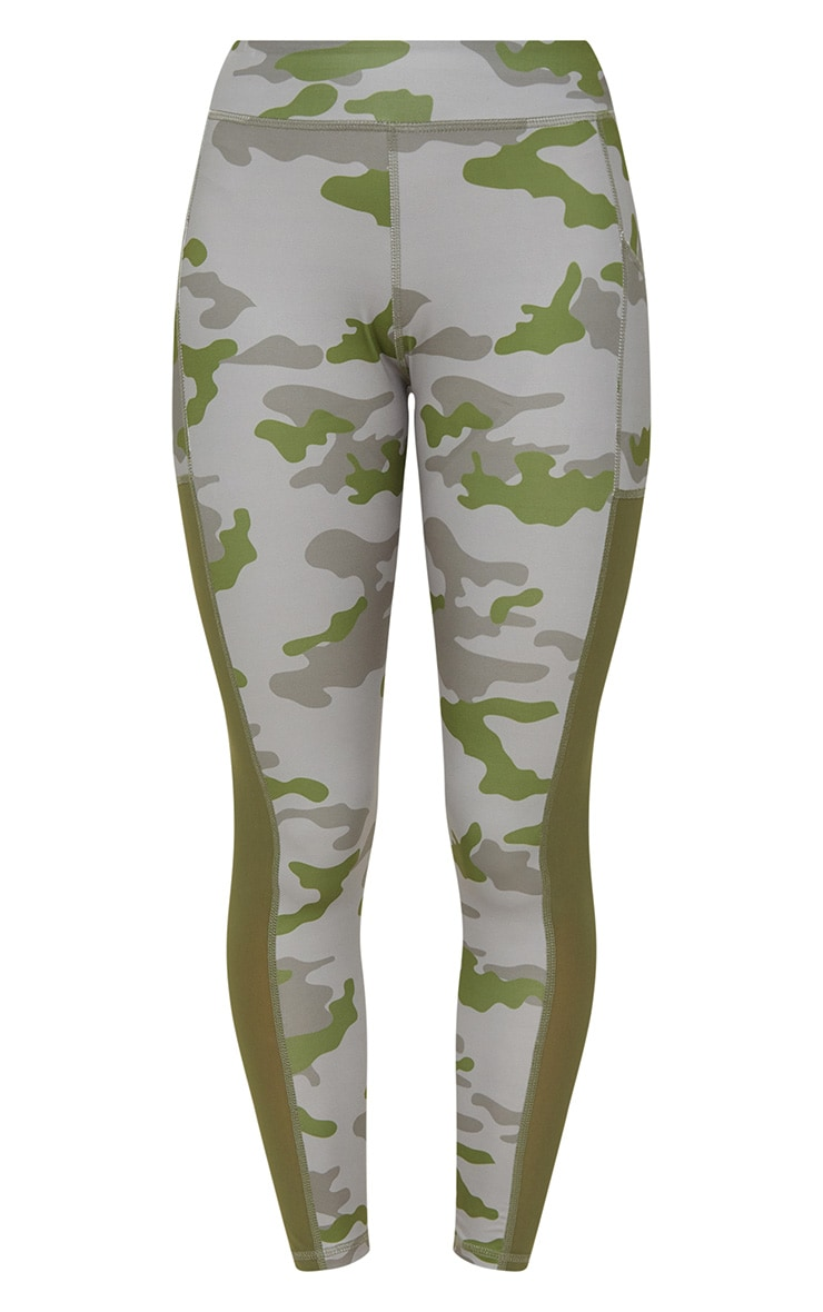 Khaki Camo Sports Leggings 3