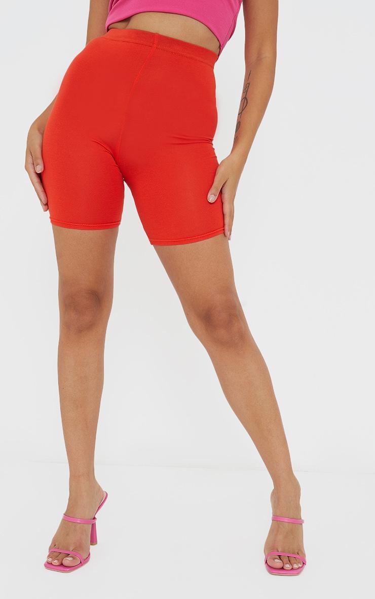 Petite Burnt Orange Basic Cycle Shorts 2