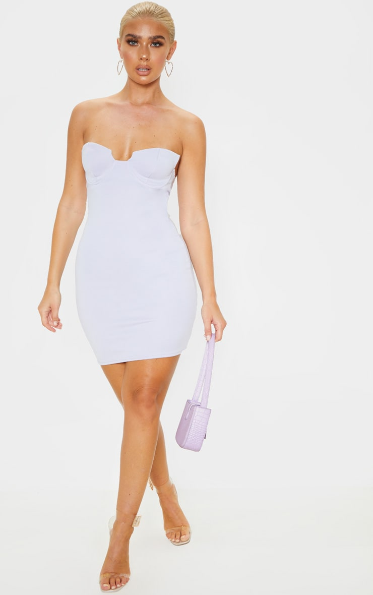 Lilac Winged Bandeau Bodycon Dress 4