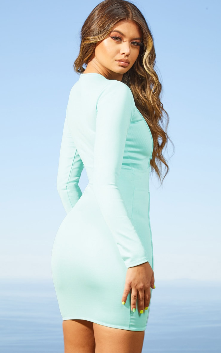 Aqua Second Skin Binding Detail Bodycon Dress 2