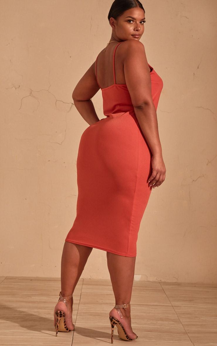 Plus Auburn Strappy Midi Dress 2