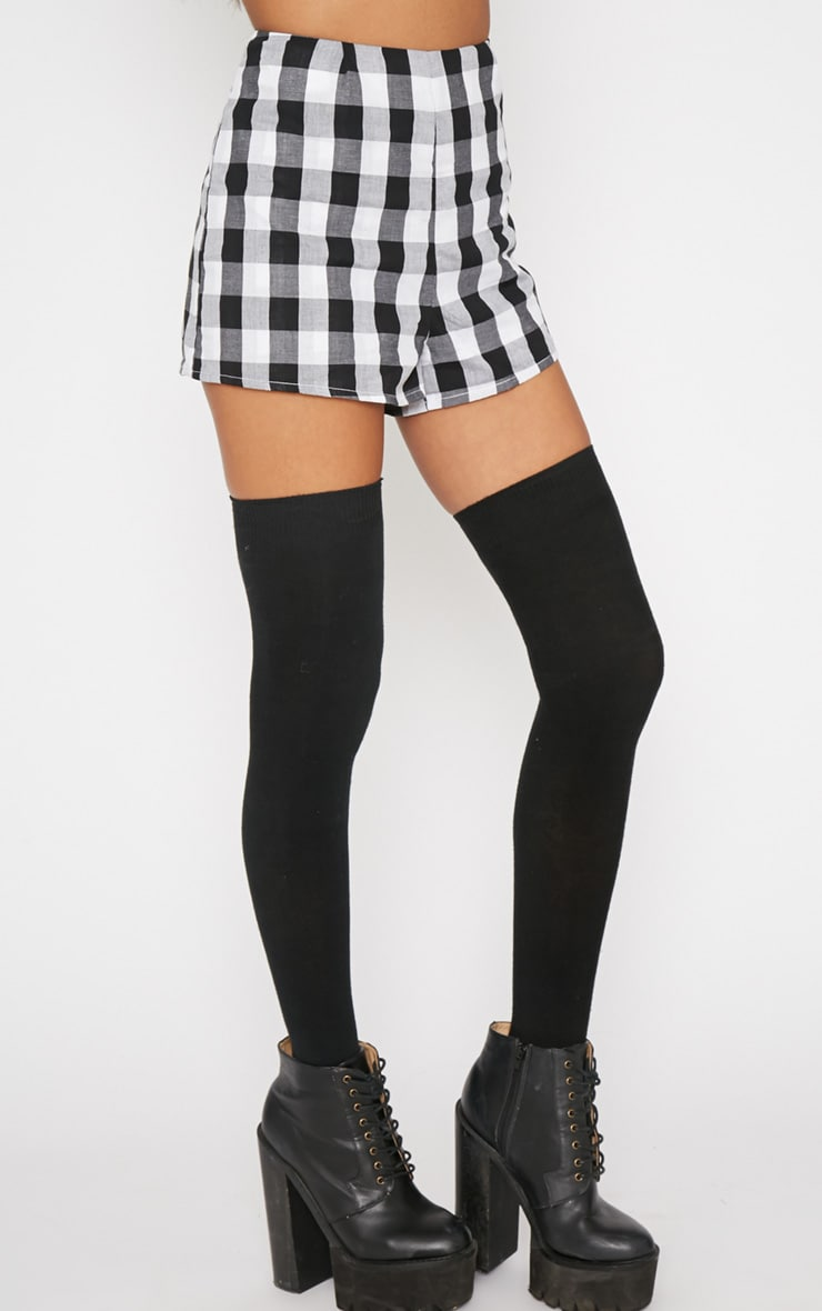 Portia Black Checked Short  5