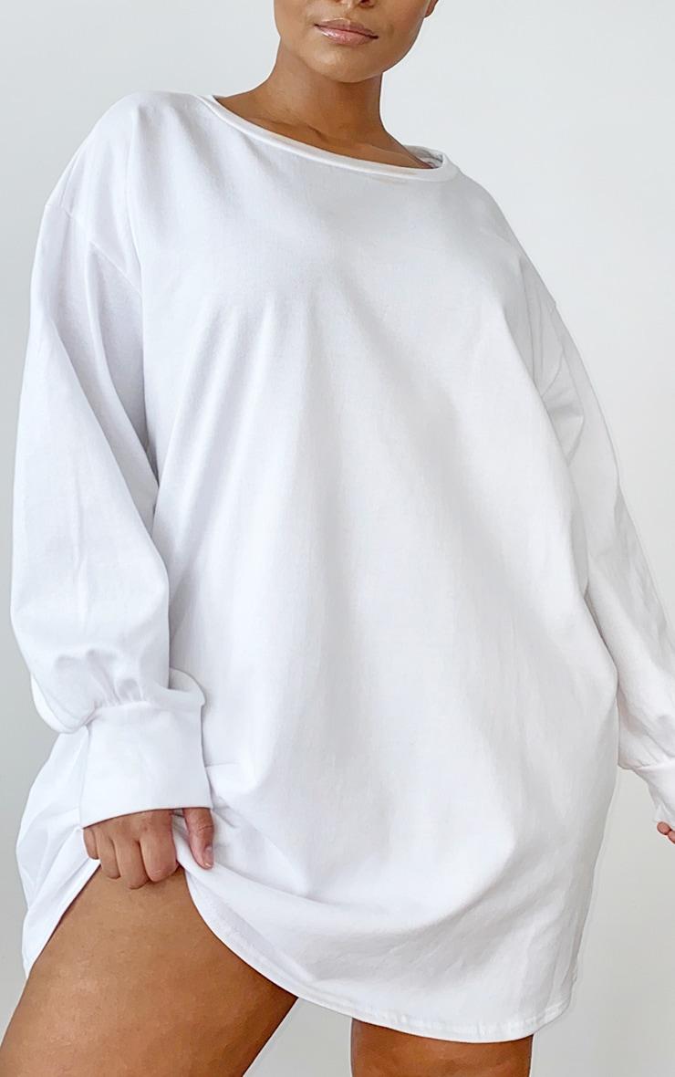PLT Plus - Robe sweat oversize écru 3
