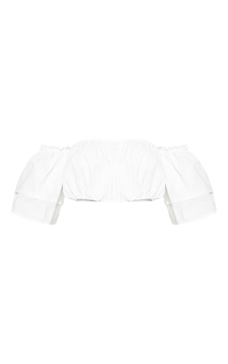 Petite White Longline Denim Shorts 3