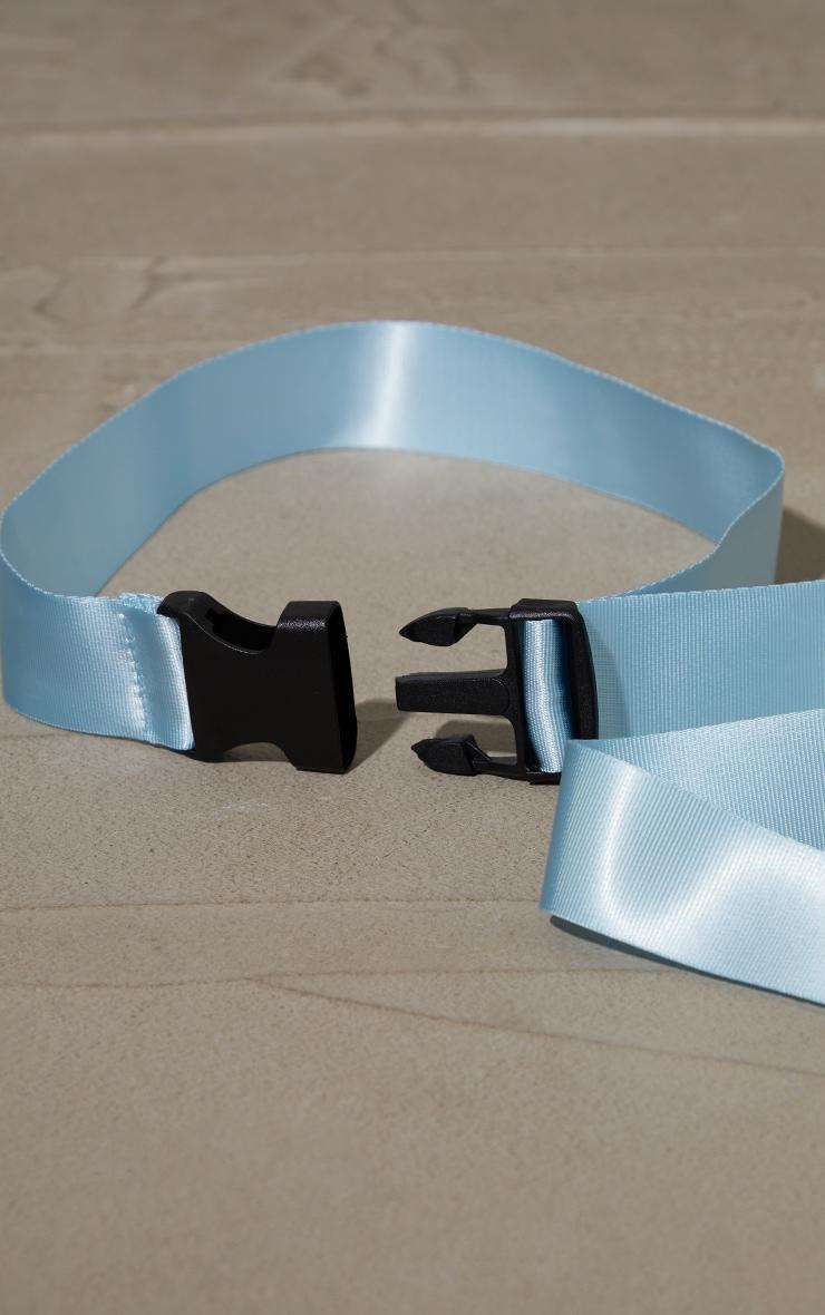 Baby Blue Slider Buckle Tape Belt 2