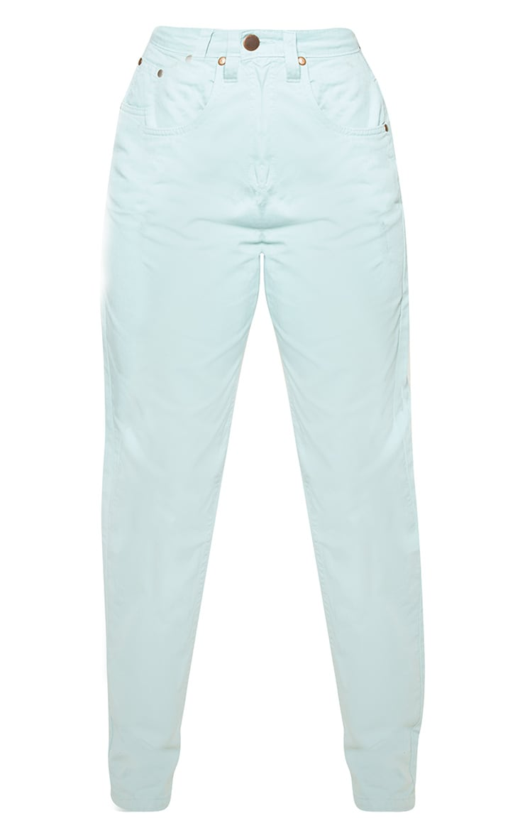 Petite Mint High Waist Mom Jeans 3