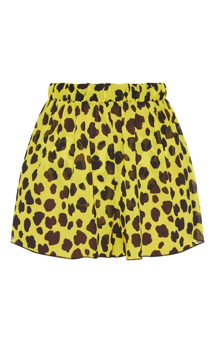 Yellow Cheetah Beach Shorts 3