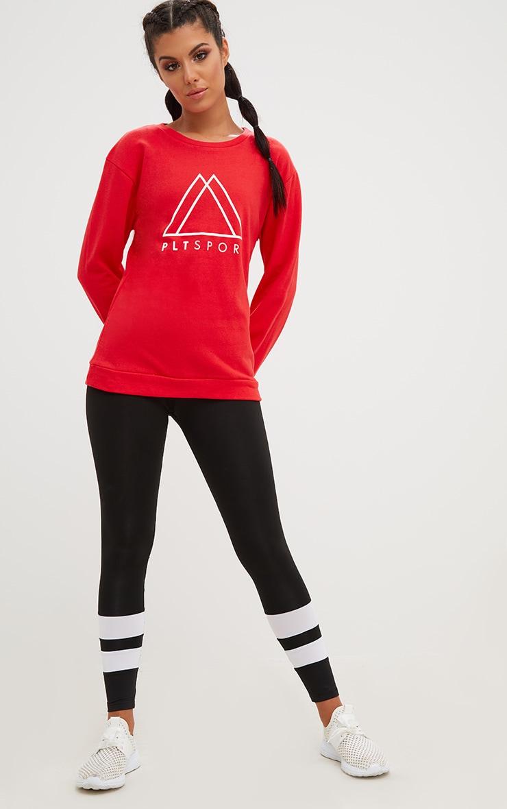 PRETTYLITTLETHING Red Sport Loop Back Sweatshirt  4