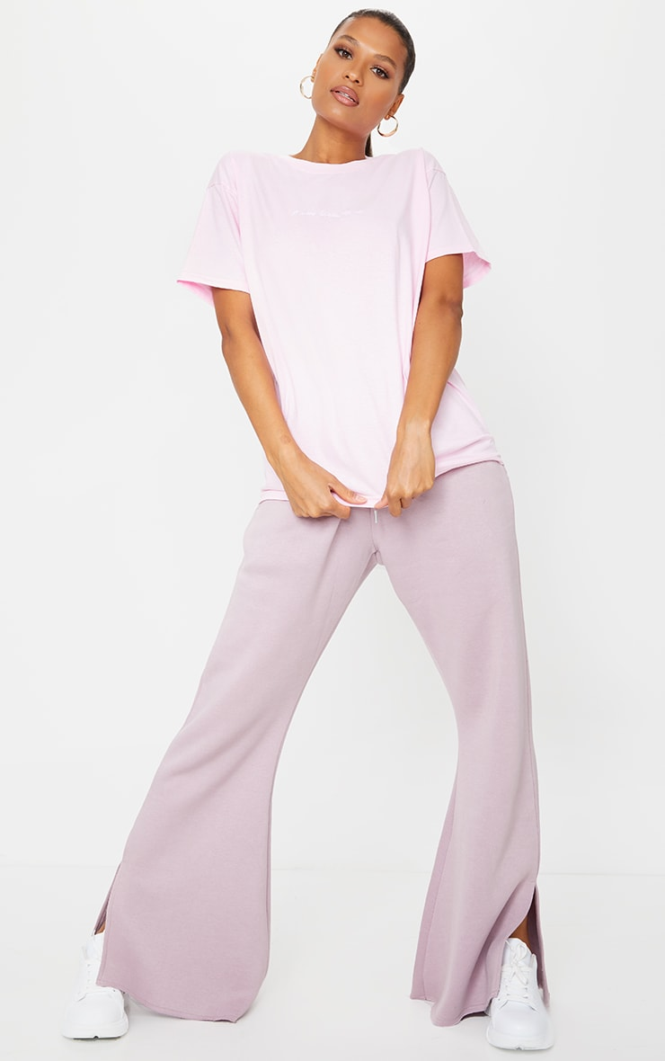 PRETTYLITTLETHING Pale Pink Oversized T Shirt 3