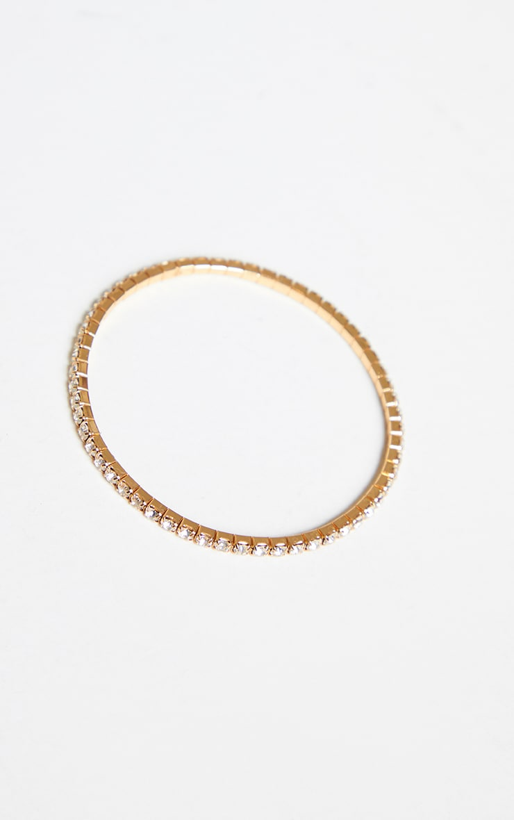 Gold Diamante Simple Anklet 3