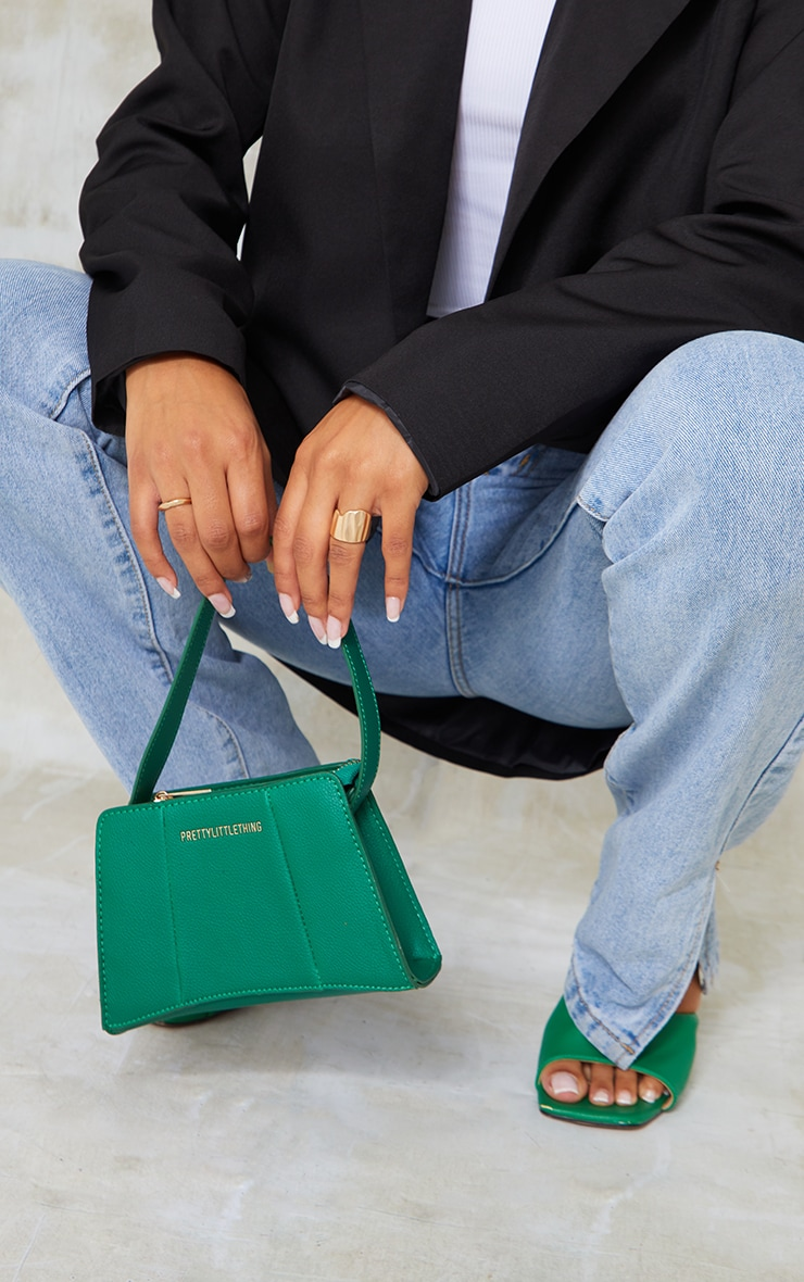 PRETTYLITTLETHING Green Triangular Shoulder Bag 2