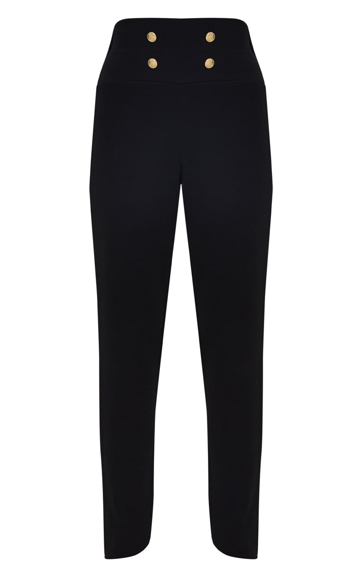 Black Military Skinny Trouser  3