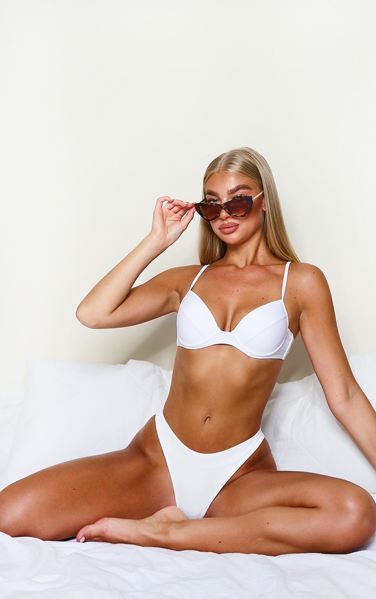 White Mix & Match Push Up Cupped Bikini Top 3