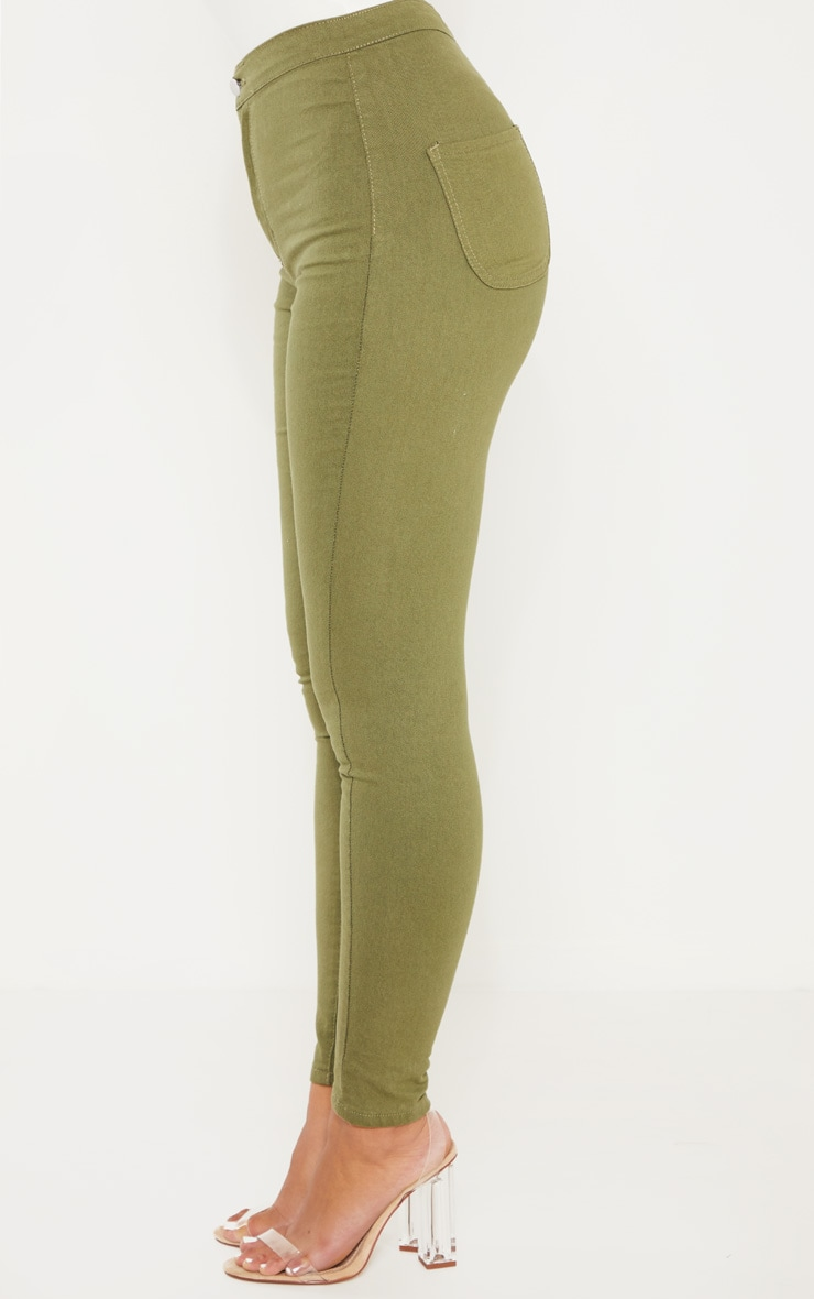 Khaki Denim Jegging 4