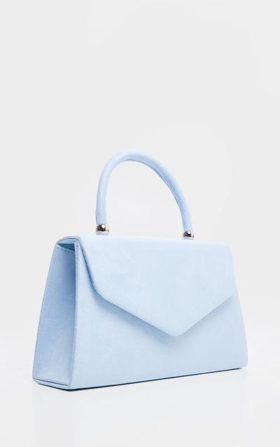Pastel Blue Faux Suede Envelope Grab Bag