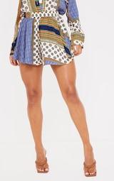 Multi Chain Print High Waist Floaty Shorts 2