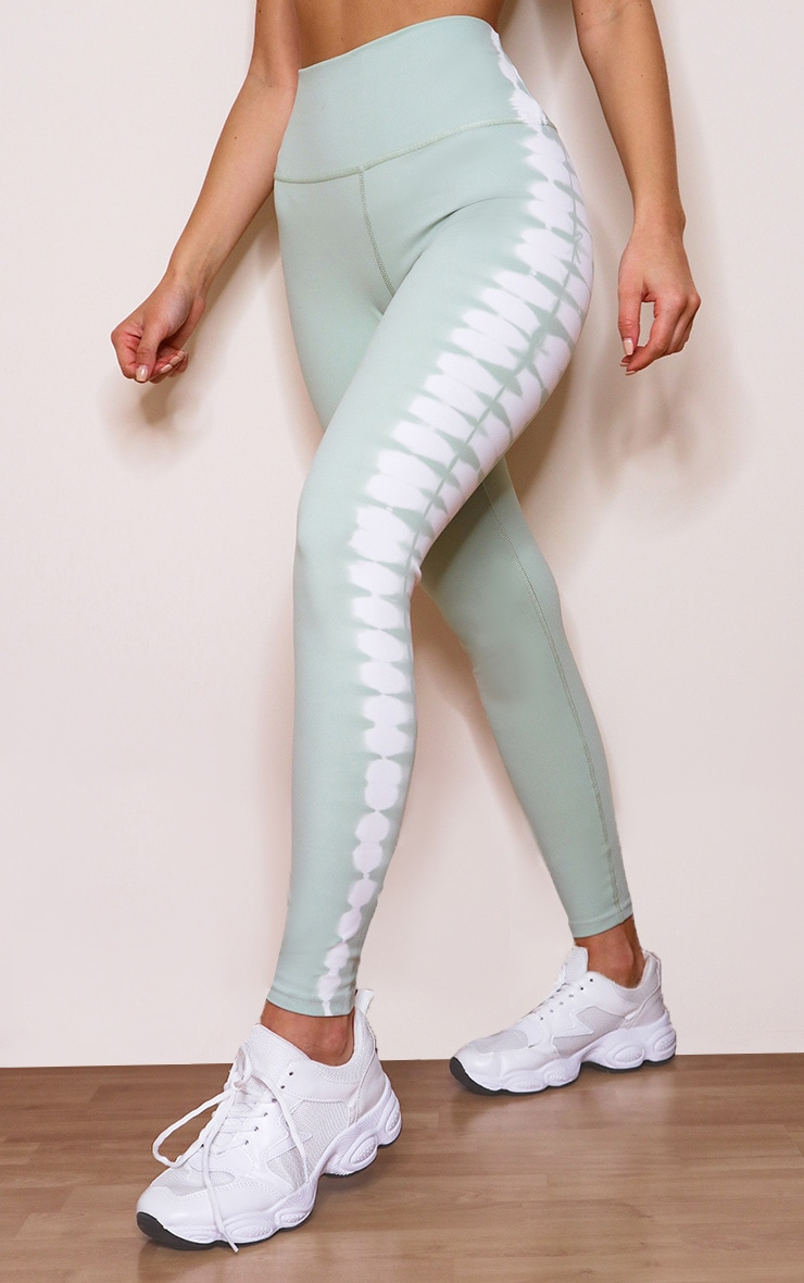 Mint Tie Dye High Waist Leggings 2