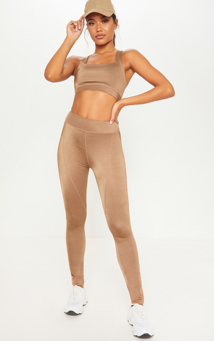 Mocha High Waisted Sports Legging 1