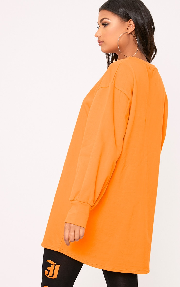 Sianna Orange Oversized Sweater Dress 2