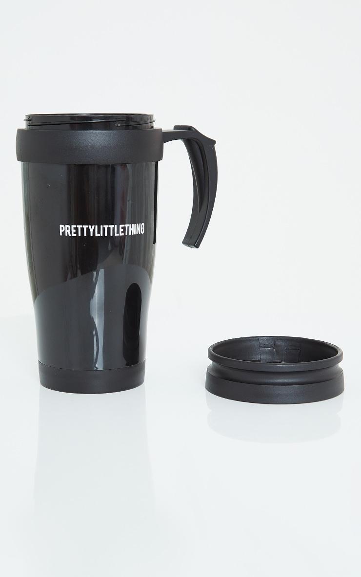 PRETTYLITTLETHING Black Travel Mug 1