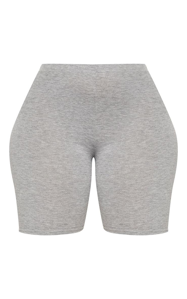 Plus Grey Marl Basic Cycle Shorts 3