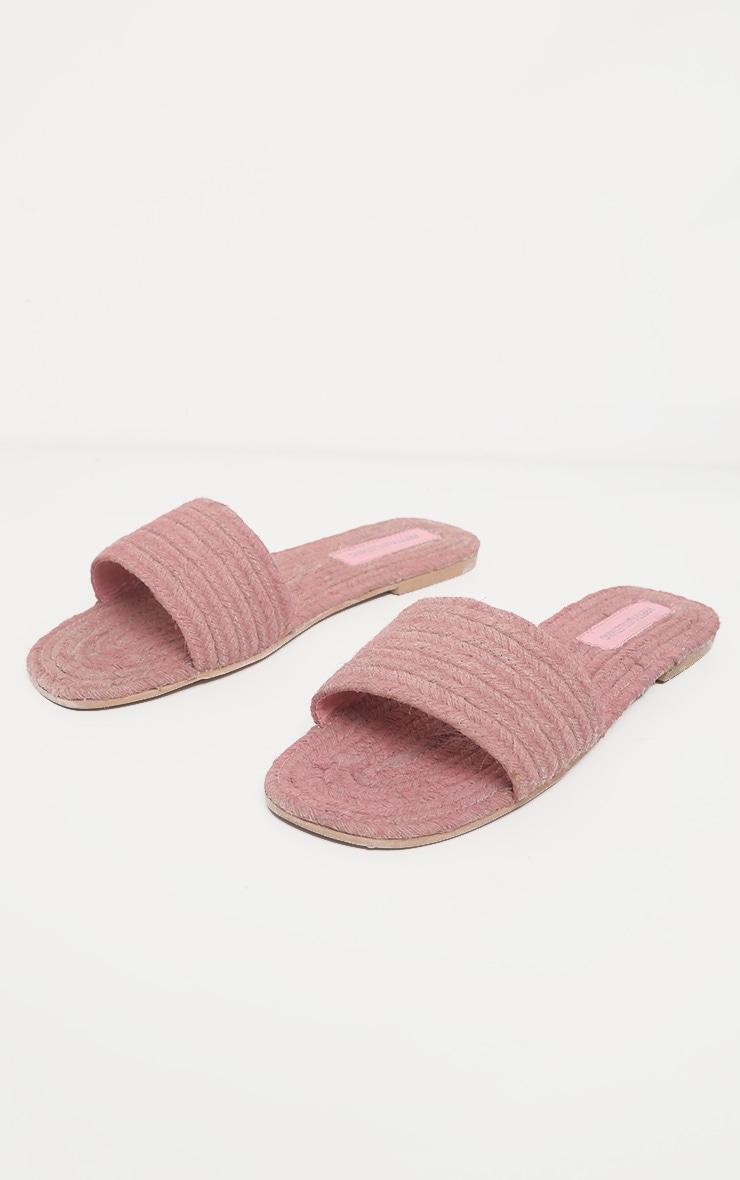 Pink Espadrille Mule Sandal 1