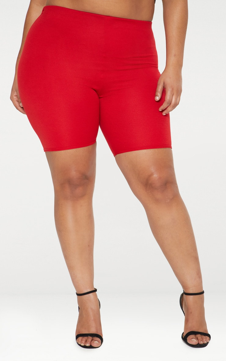 Plus Red Cycling Shorts 2