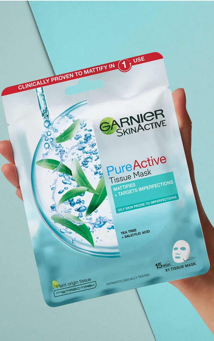 Garnier Pure Active Tea Tree and Salicylic Acid Sheet Mask 23g 1