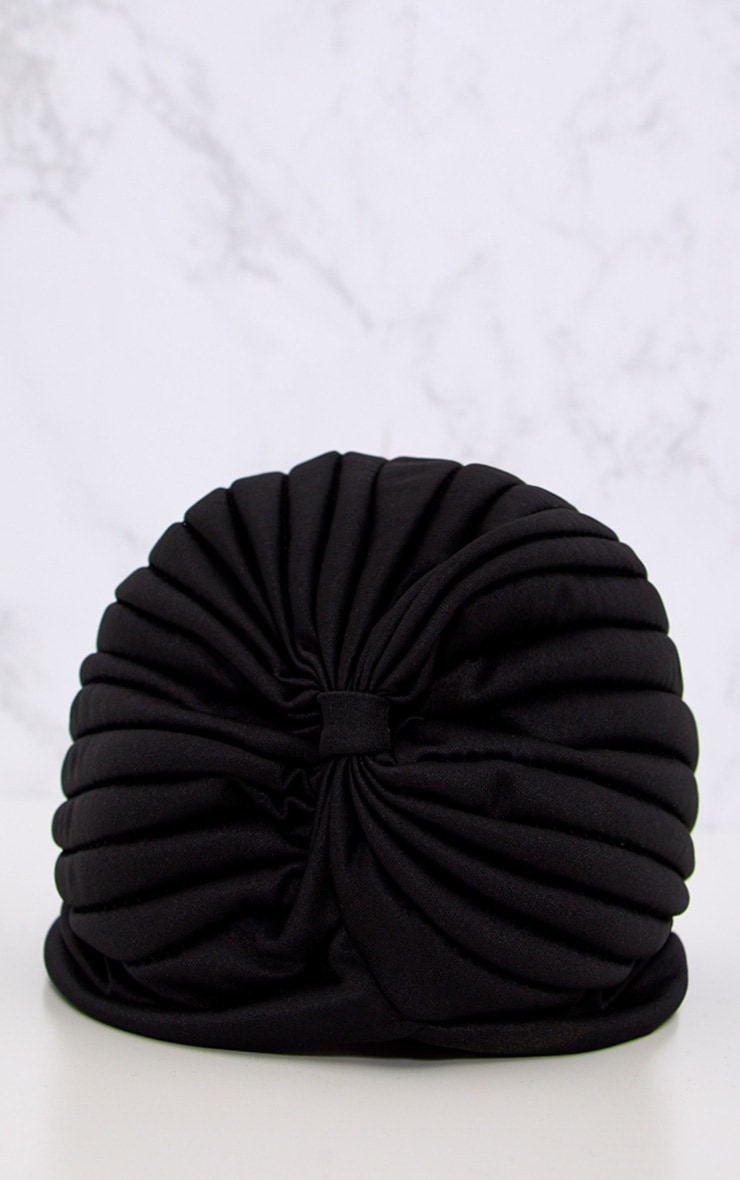 Black Knotted Turban 3
