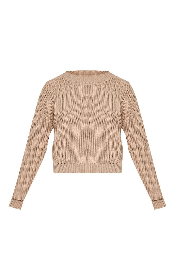 Cara pull court tricoté gris pierre 3