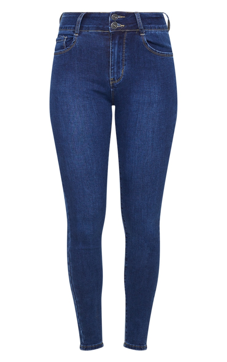 Dark Wash Bum Shape Skinny Jeans 5