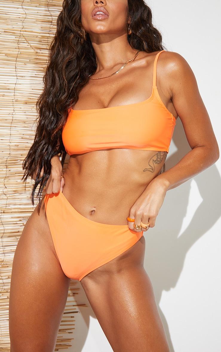 Recycled Orange Mix & Match Cheeky Bum Bikini Bottoms 1