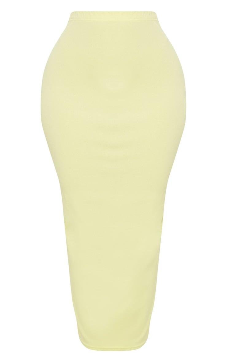 Shape Chartreuse Midaxi Skirt 3