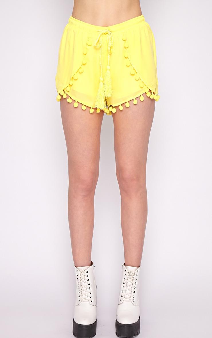Sofia Neon Yellow Pom Pom Boxer Short 5