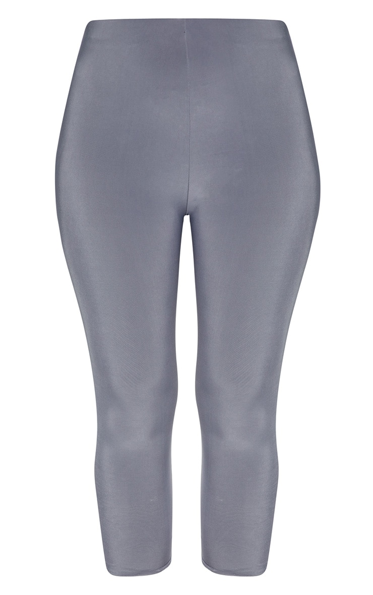 Grey Slinky Cropped Legging  3