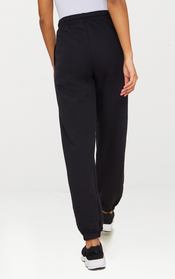 Black Casual High Waisted Jogger 4