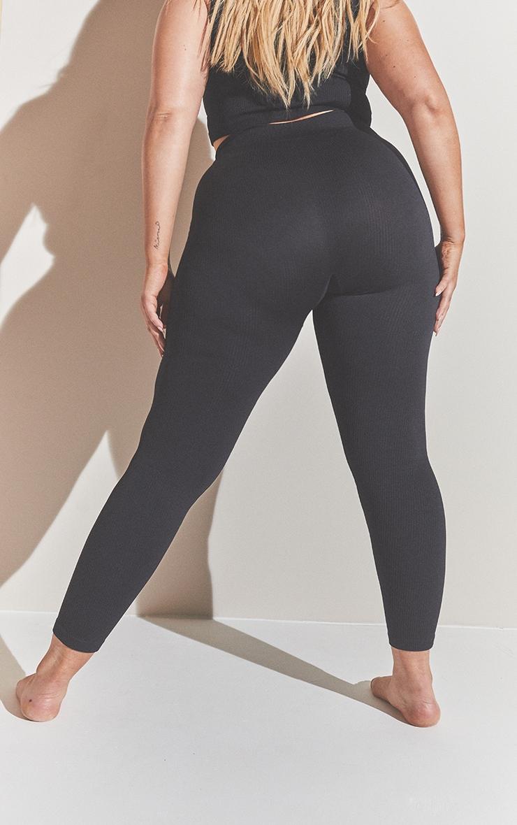 Plus Black Contour Leggings 3
