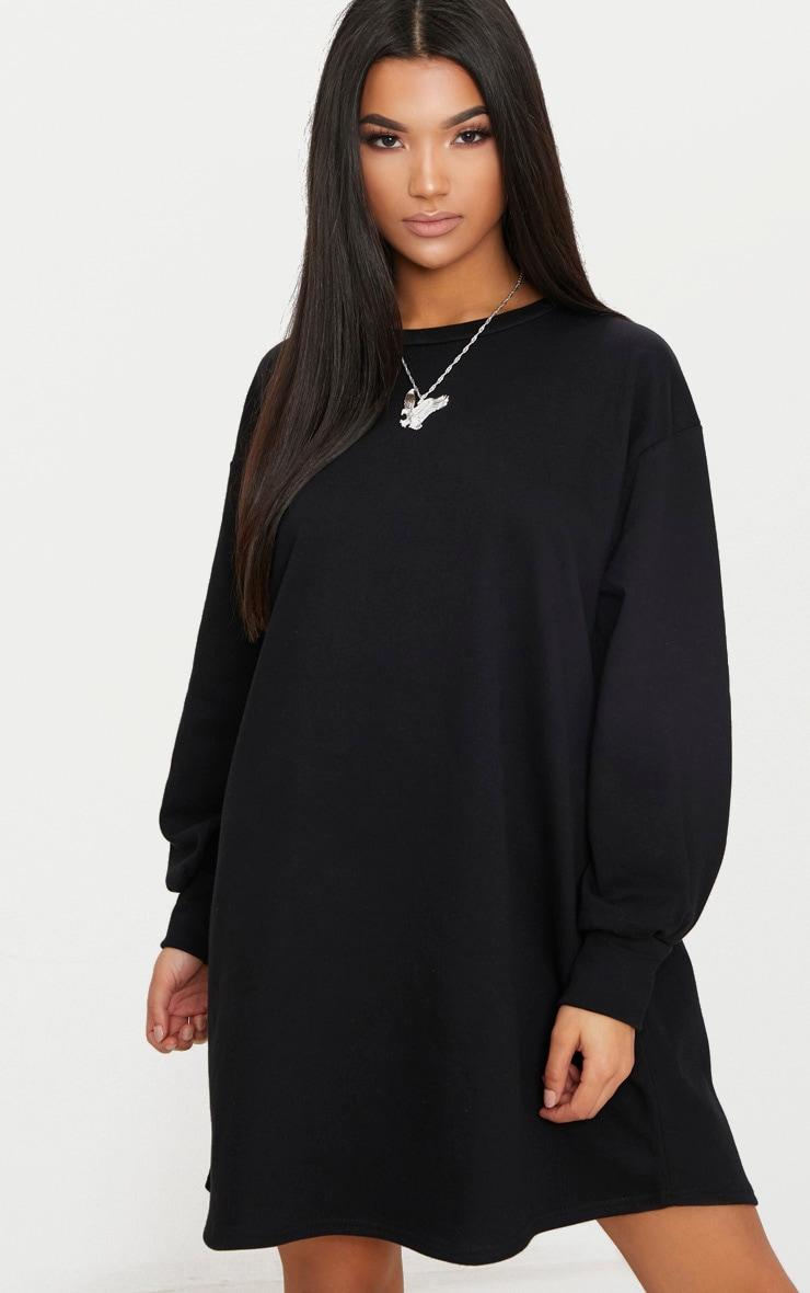 Robe pull surdimensionnée noire 2