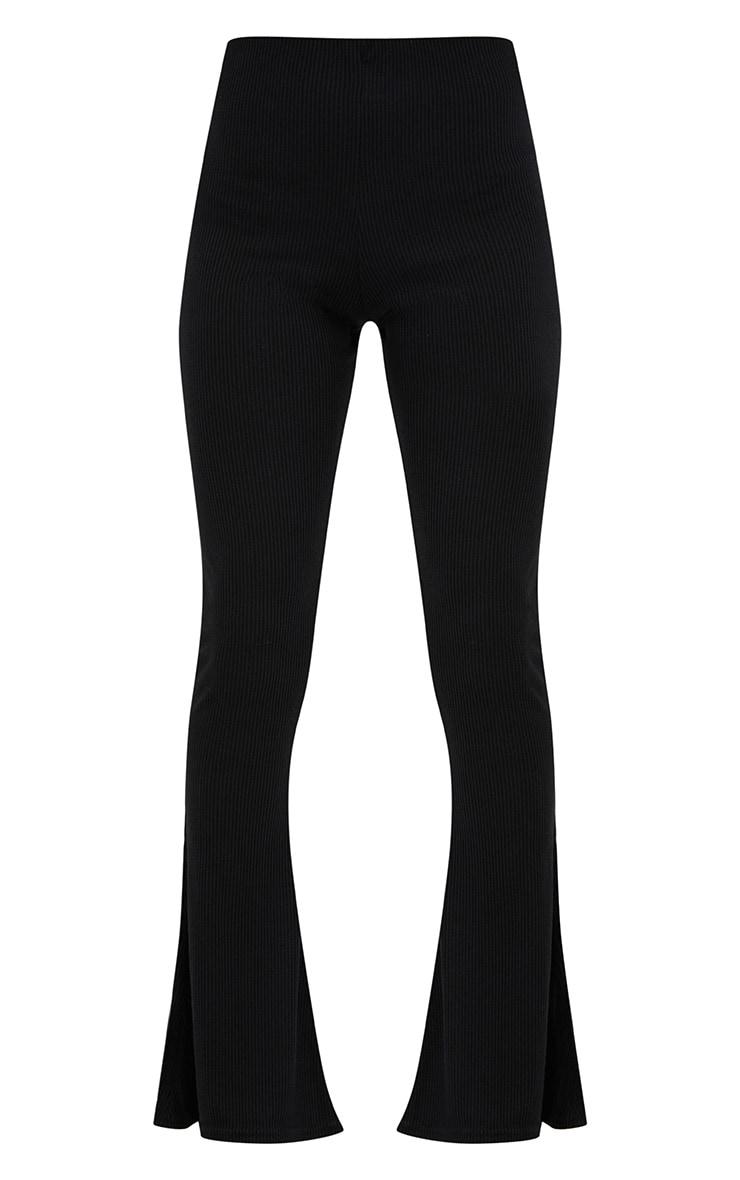 Pantalon évasé côtelé noir 3