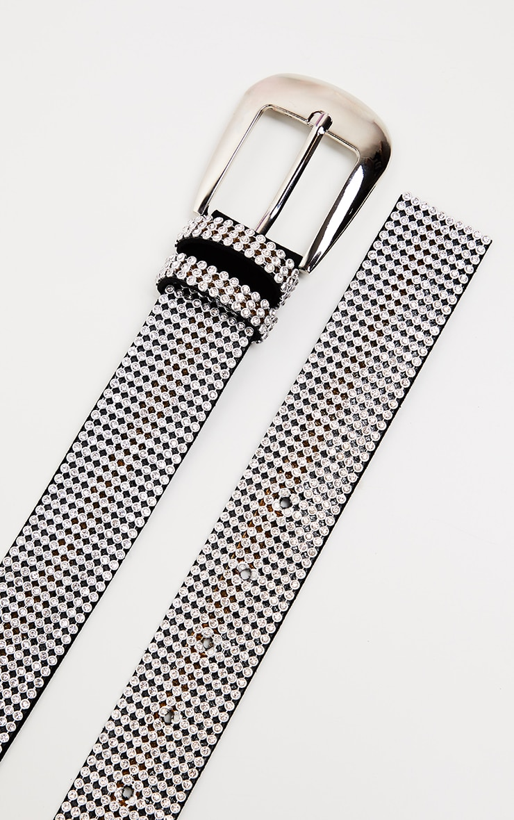 Black Diamante Stud Belt 3