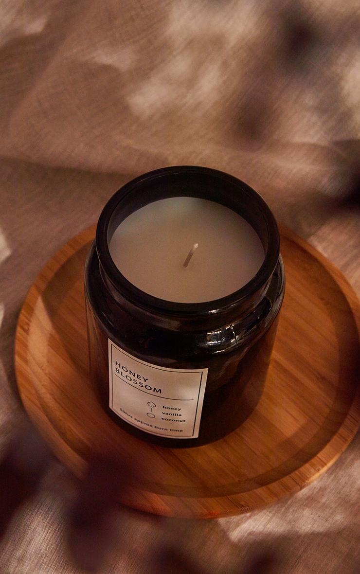 Black Honey Blossom Scented Glass Jar Candle 2