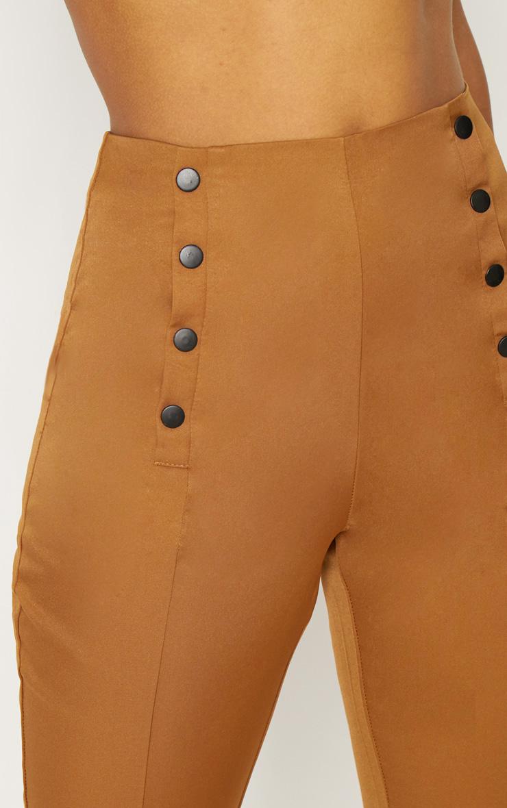Tobacco Popper Seam Detail Skinny Pants 5