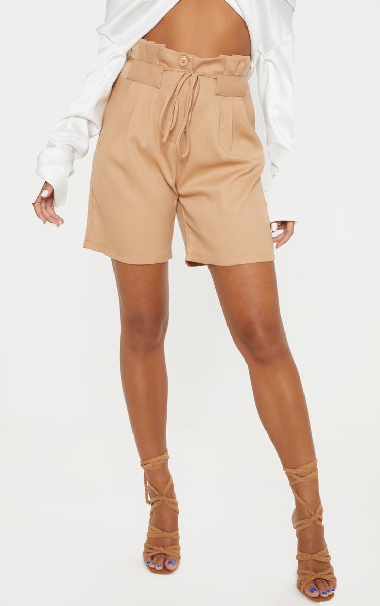 Camel Tie Waist Shorts 2