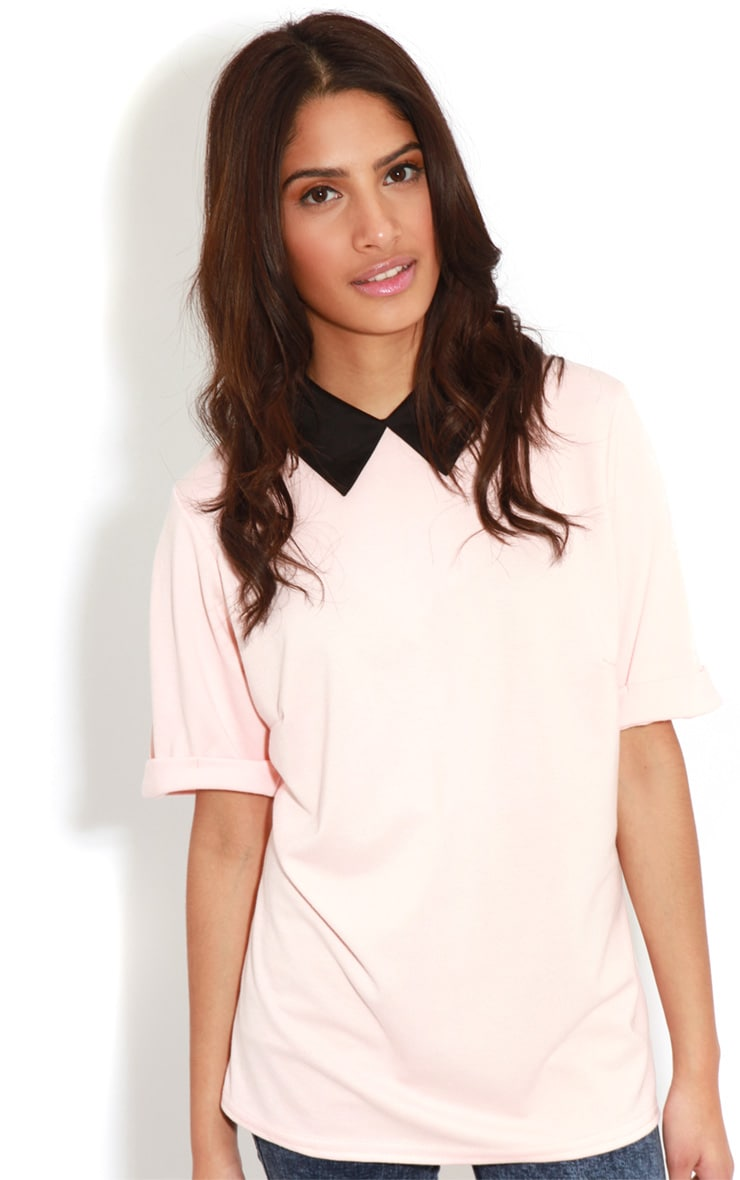 Albany Peach Collar Top 4