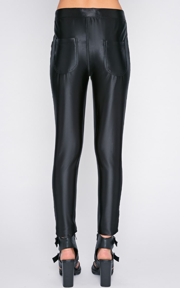 Aarushi Black High Waisted Disco Pants 2