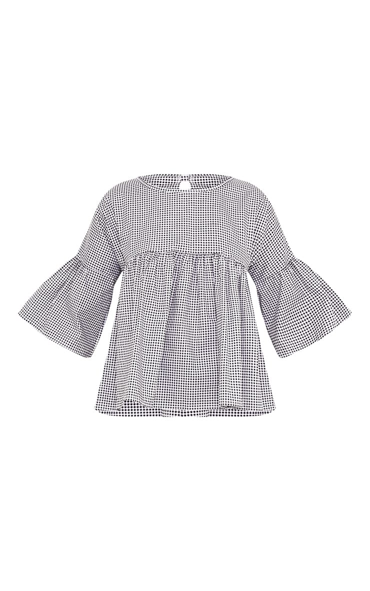 Alexiah Black Gingham Frill Sleeve Blouse 3