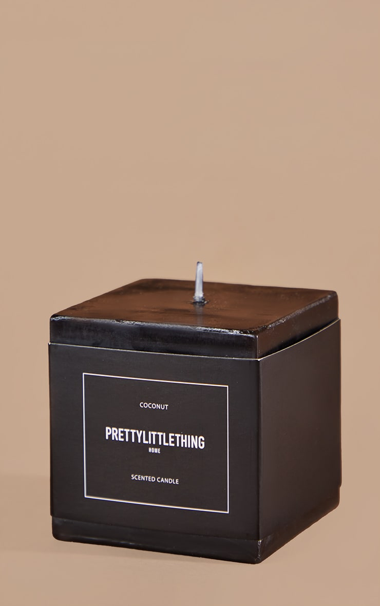 PRETTYLITTLETHING Black Cube Coconut Scented Candle 4