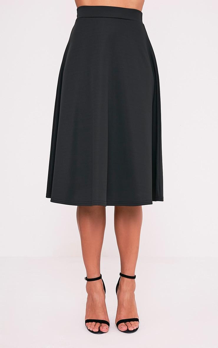 Kasey Black Full A-Line Midi Skirt 2
