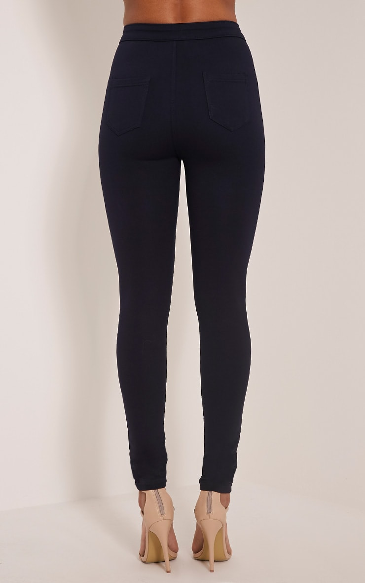 Serinna Navy High Waisted Jeggings 5